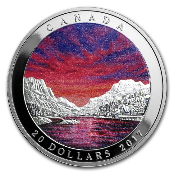 2017 Canada 1 oz Silver $20 Weather Phenomenon Fiery Sky