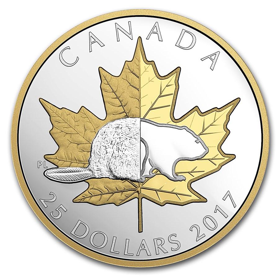 2017 Canada 1 oz Silver $25 Piedfort Timeless Icons