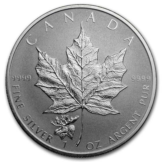 2017 Canada 1 oz Silver Maple Leaf Moose Privy Reverse Proof