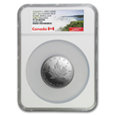 2017 Canada 2 oz Silver $10 Iconic Maple Leaf PF-70 NGC (ER)