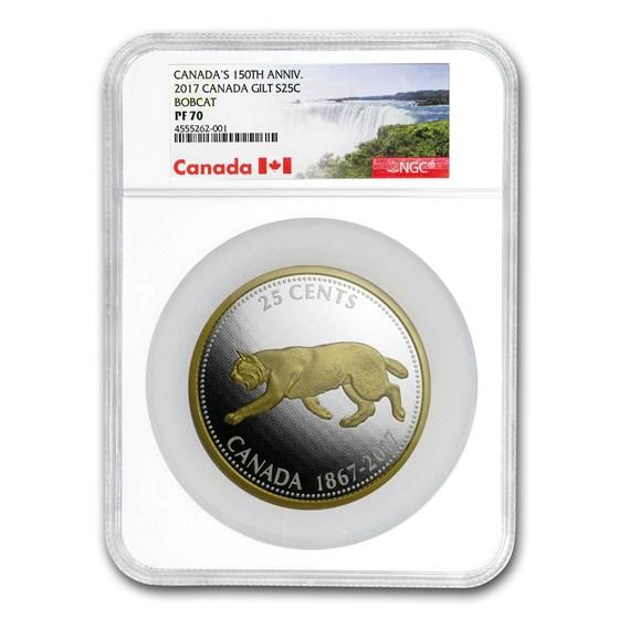 2017 Canada 5 oz Silver Big Coin Bobcat PF-70 NGC