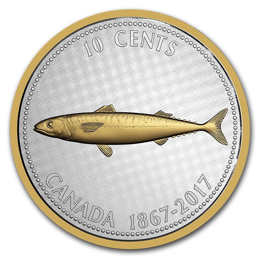 2017 Canada 5 oz Silver Big Coin Mackerel (Alex Colville Dollar)