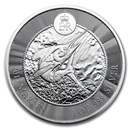 2017 Cayman Islands 1 oz Silver Marlin BU