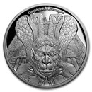 2017 Chad 1 oz Proof Silver Gargoyles and Grotesques (Spitter)