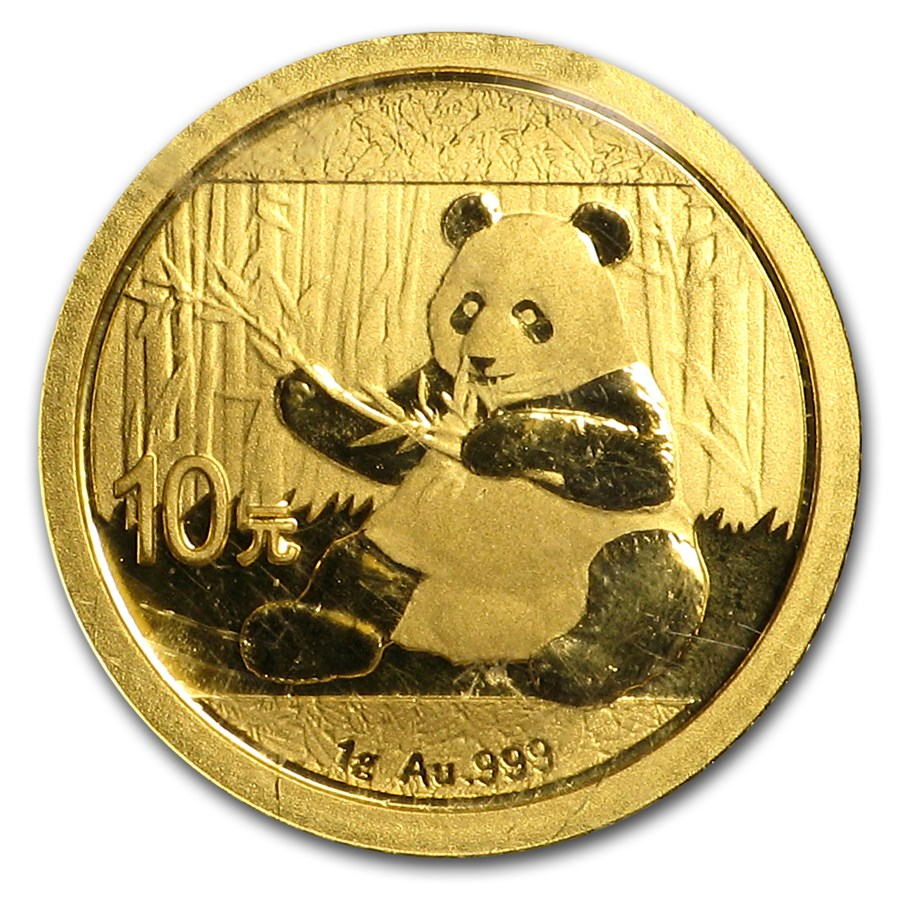 2017 China 1 gram Gold Panda BU (Sealed)