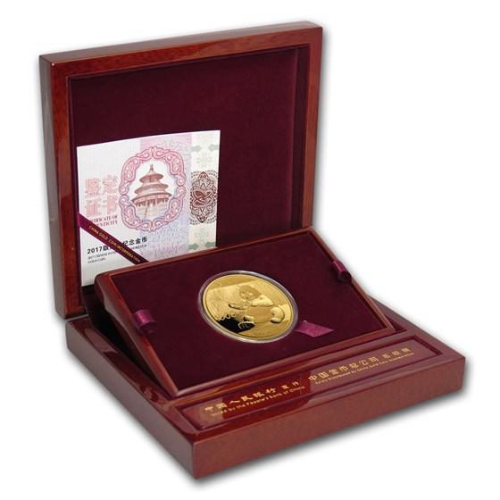2017 China 100 gram Gold Panda Proof (w/Box & COA)
