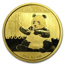 2017 China 150 gram Gold Panda Proof (w/Box & COA)