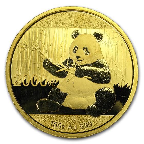 2017 China 150 gram Gold Panda Proof (w/Box & COA)