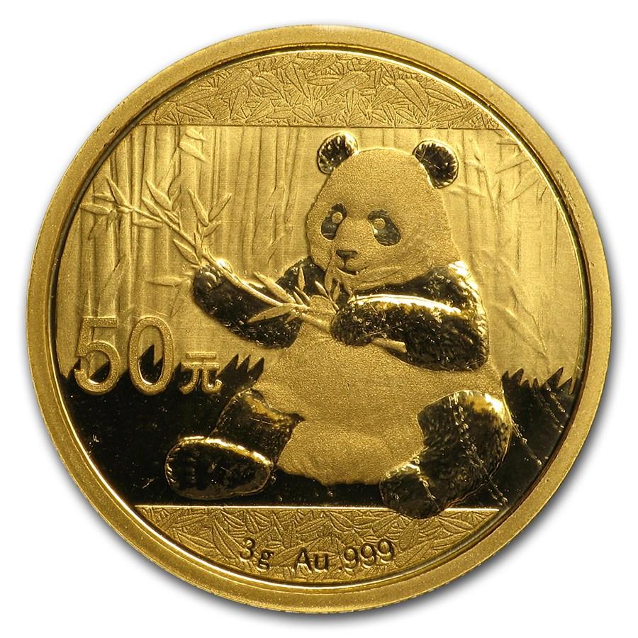 2017 China 3 gram Gold Panda BU (Sealed)