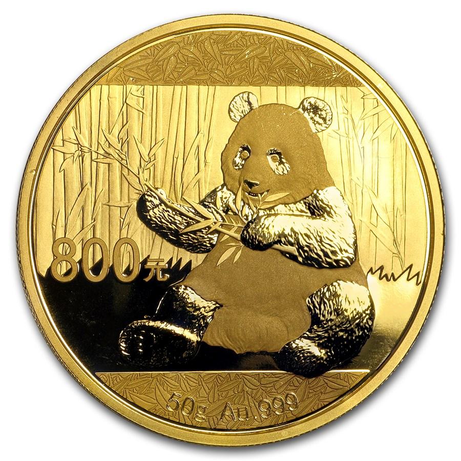 2017 China 50 gram Gold Panda Proof (w/Box & COA)