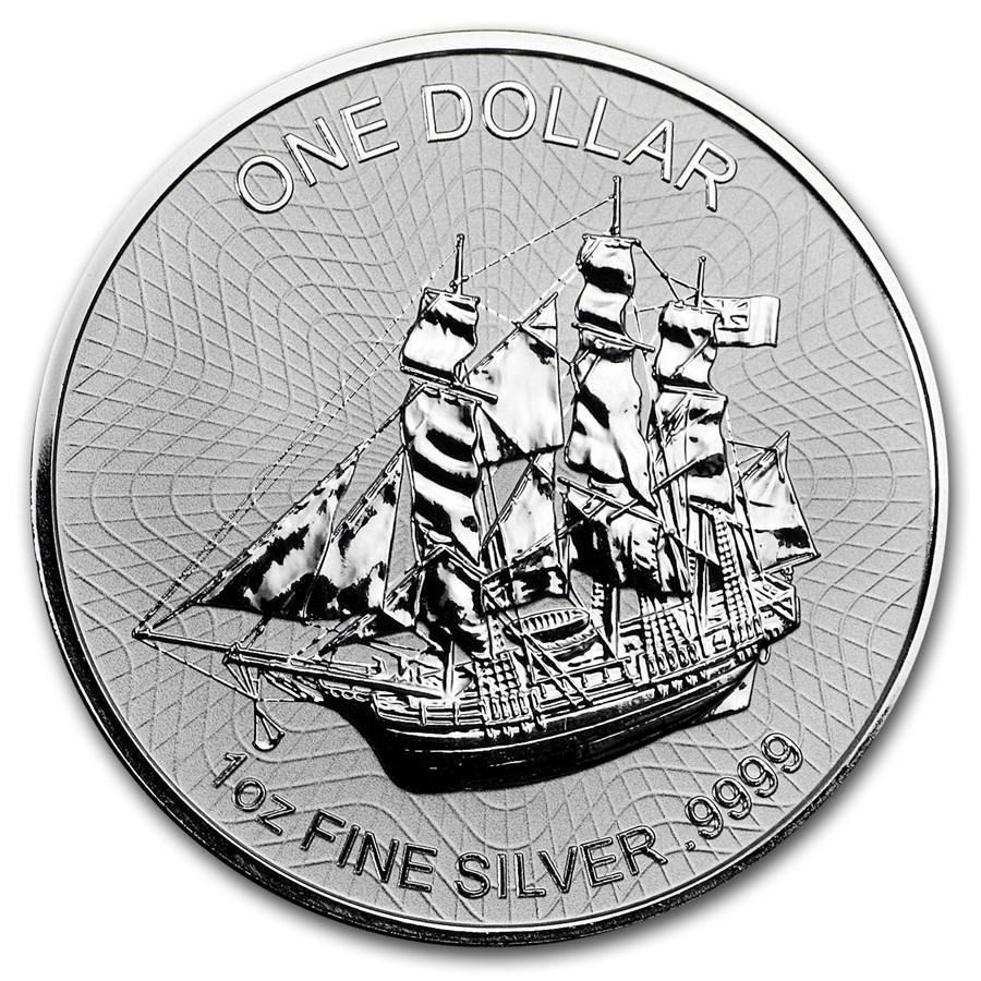 2017 Cook Islands 1 oz Silver Bounty Coin (Version 2)