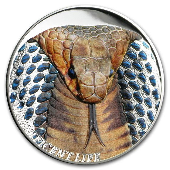 2017 Cook Islands 1 oz Silver Magnificent Life (Cobra)