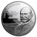 2017 Cook Islands 3 oz Silver 100th Anniv of Graf Zeppelin