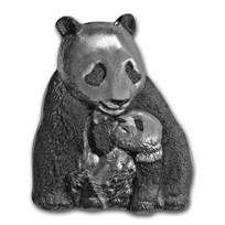 2017 Cook Islands 88 gram Silver Antique Finish Lucky Panda