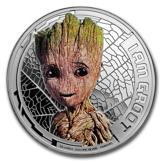 """2017 Cook Islands Ag """"Guardians of the Galaxy"""" Groot (UHR)"""