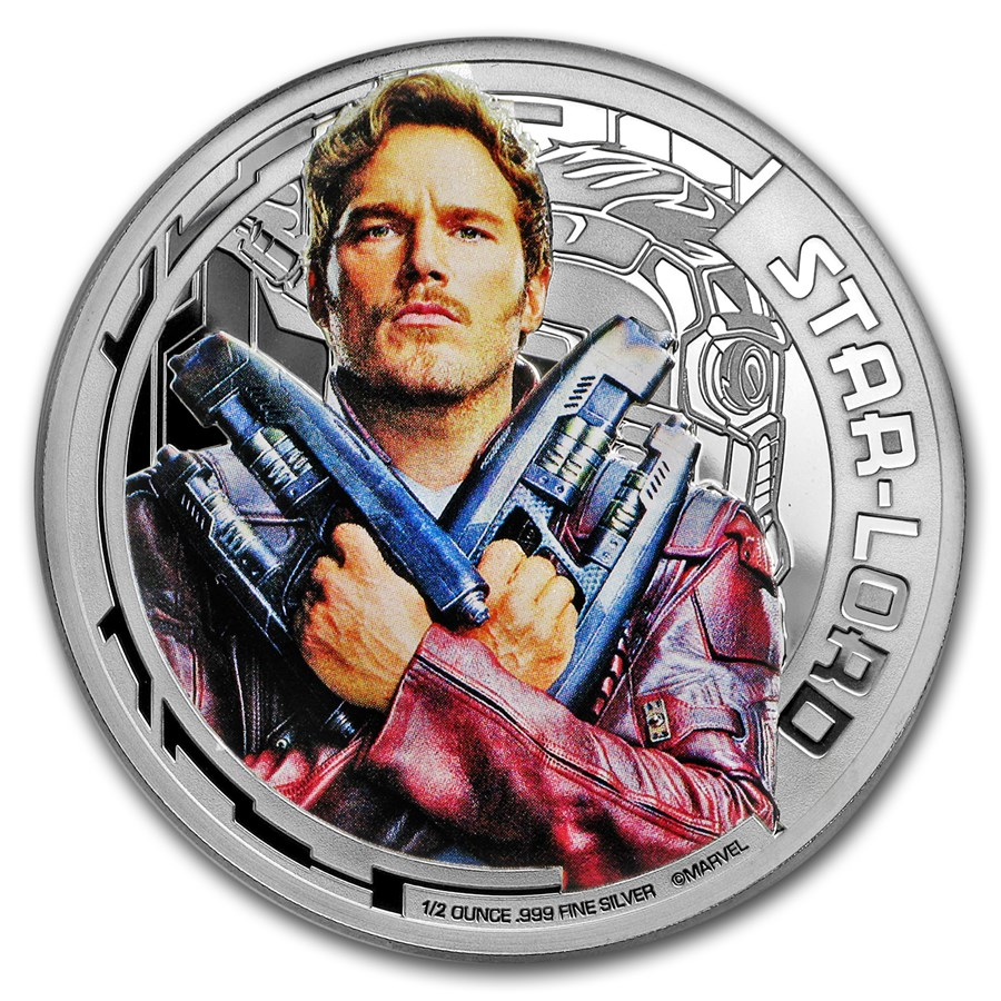 """2017 Cook Islands Ag """"Guardians of the Galaxy"""" Star-Lord (UHR)"""