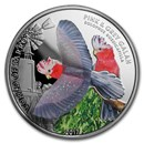 2017 Cook Islands Silver 3D World of Parrots (Pink & Grey Galah)