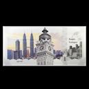 2017 Cook Islands Skyline Dollars Foil Silver Note (Kuala Lumpur)