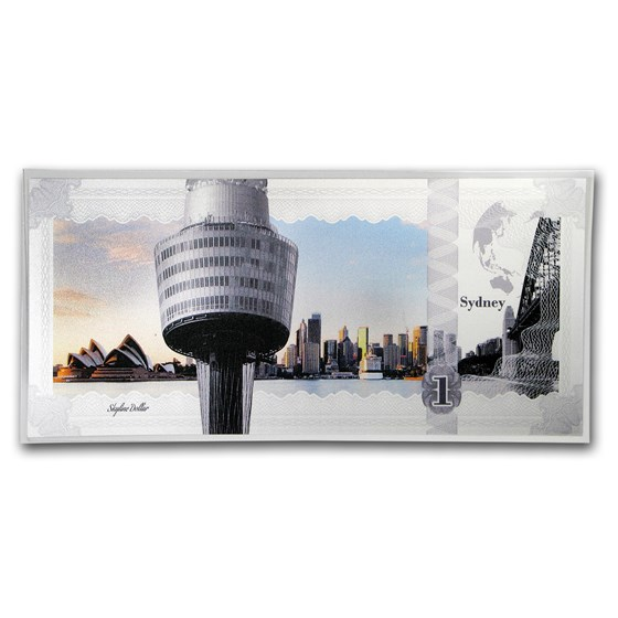 2017 Cook Islands Skyline Dollars Foil Silver Note (Sydney)