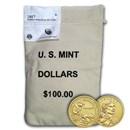 2017-D Native Amer $1 - Sequoyah ($100 Coin Mint Sealed Bag) BU