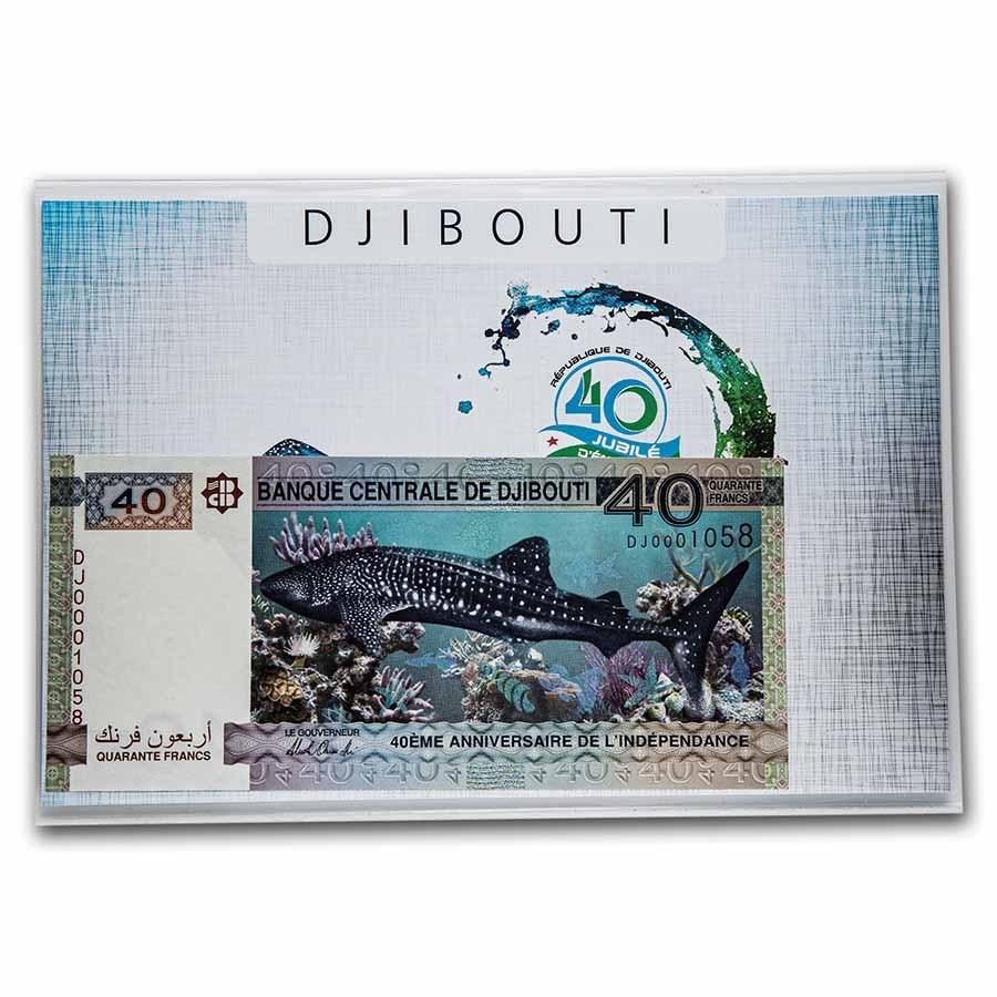 2017 Djibouti Whale Shark 40 Francs Banknote Unc