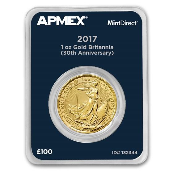 2017 GB 1 oz Gold Britannia 30th Anniversary (MintDirect®)