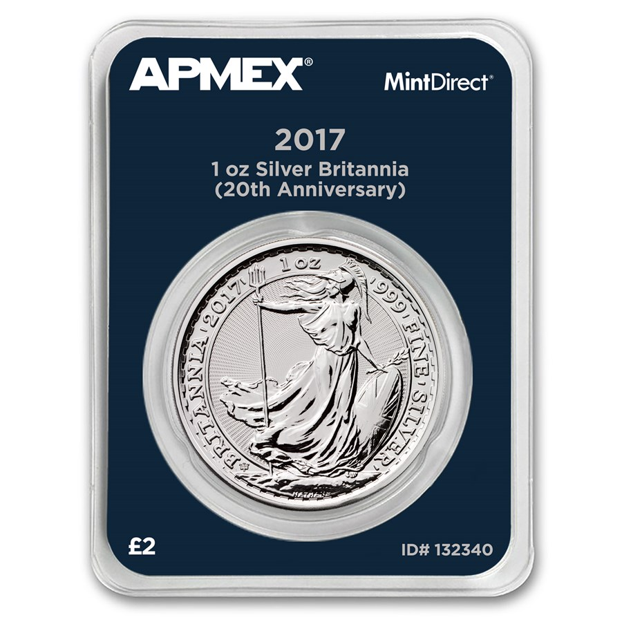 2017 GB 1 oz Silver Britannia 20th Anniversary (MintDirect®)