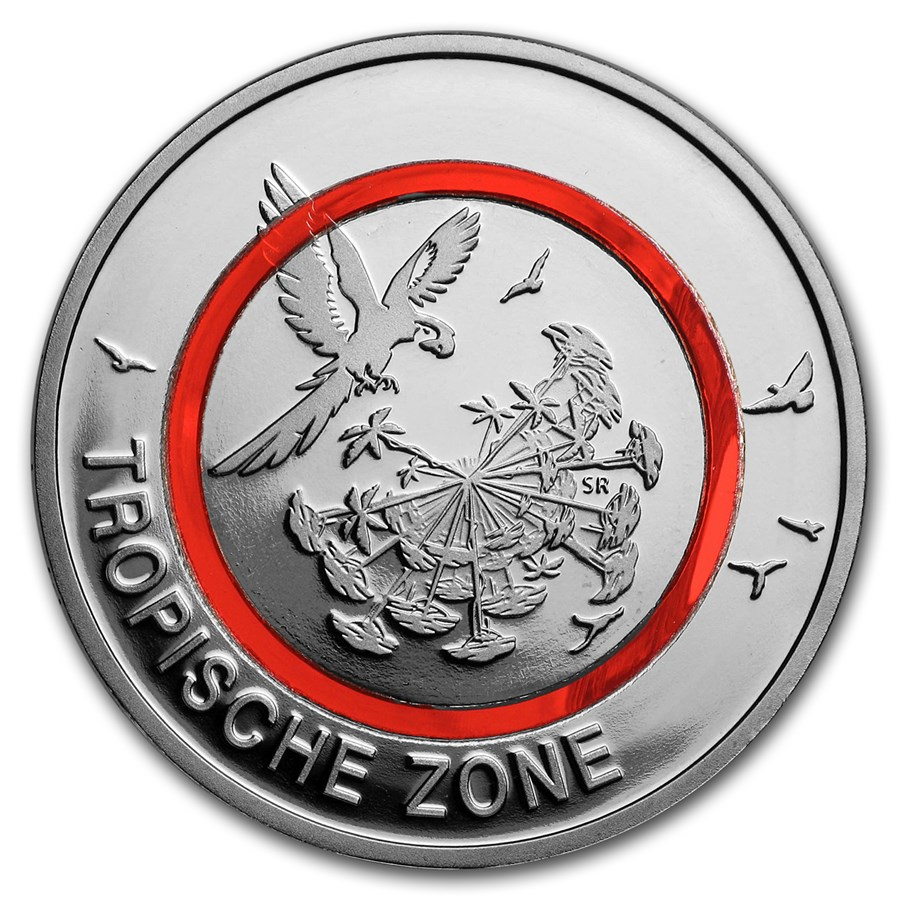2017 Germany 5 Euro Tropical Climate Zone Proof (w/ Box)
