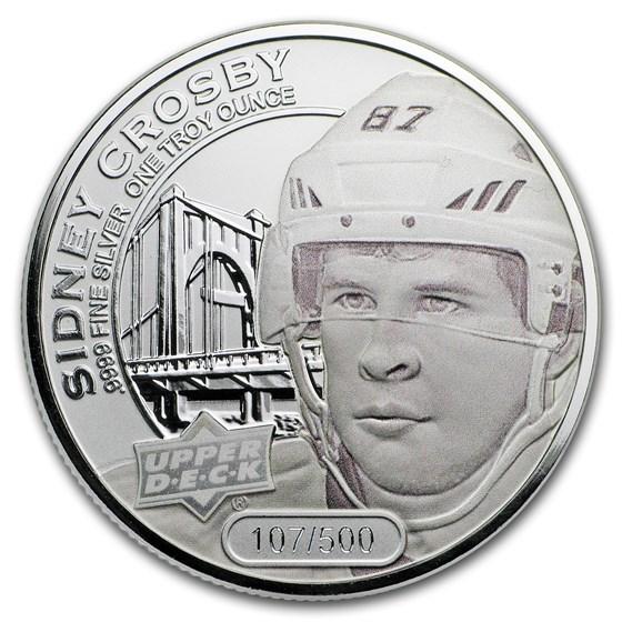 2017 Grandeur 1 oz Silver Hockey: Crosby (Frosted)