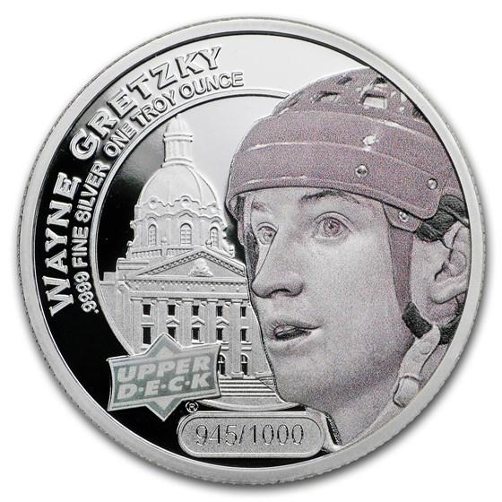 2017 Grandeur 1 oz Silver Hockey: Gretzky (High Relief)