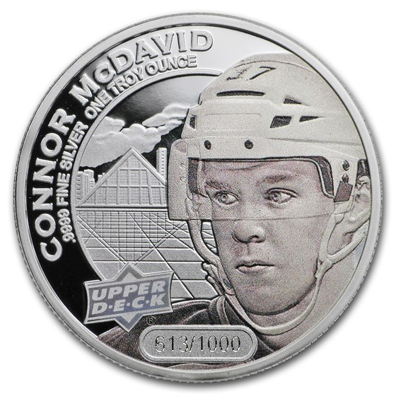 2017 Grandeur 1 oz Silver Hockey: McDavid (High Relief)