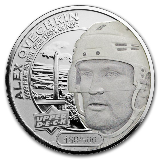 2017 Grandeur 1 oz Silver Hockey: Ovechkin (Frosted)
