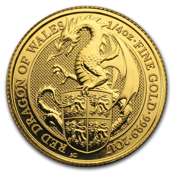 2017 Great Britain 1/4 oz Gold Queen's Beasts The Dragon