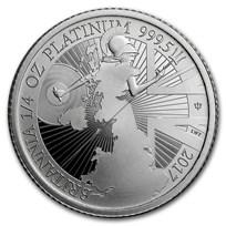 2017 Great Britain 1/4 oz Proof Platinum Britannia