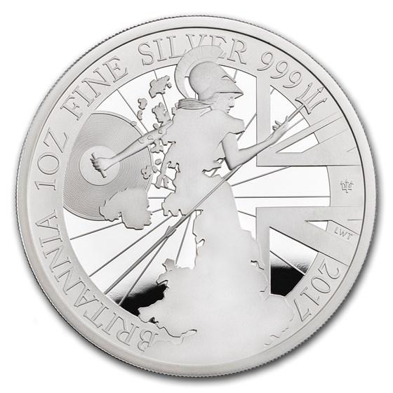 2017 Great Britain 1 oz Proof Silver Britannia (w/ Box)