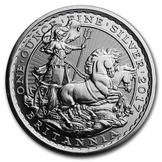 2017 Great Britain 1 oz Silver Britannia (20th Anniv Chariot)