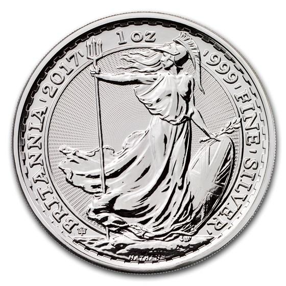 2017 Great Britain 1 oz Silver Britannia (20th Anniversary)