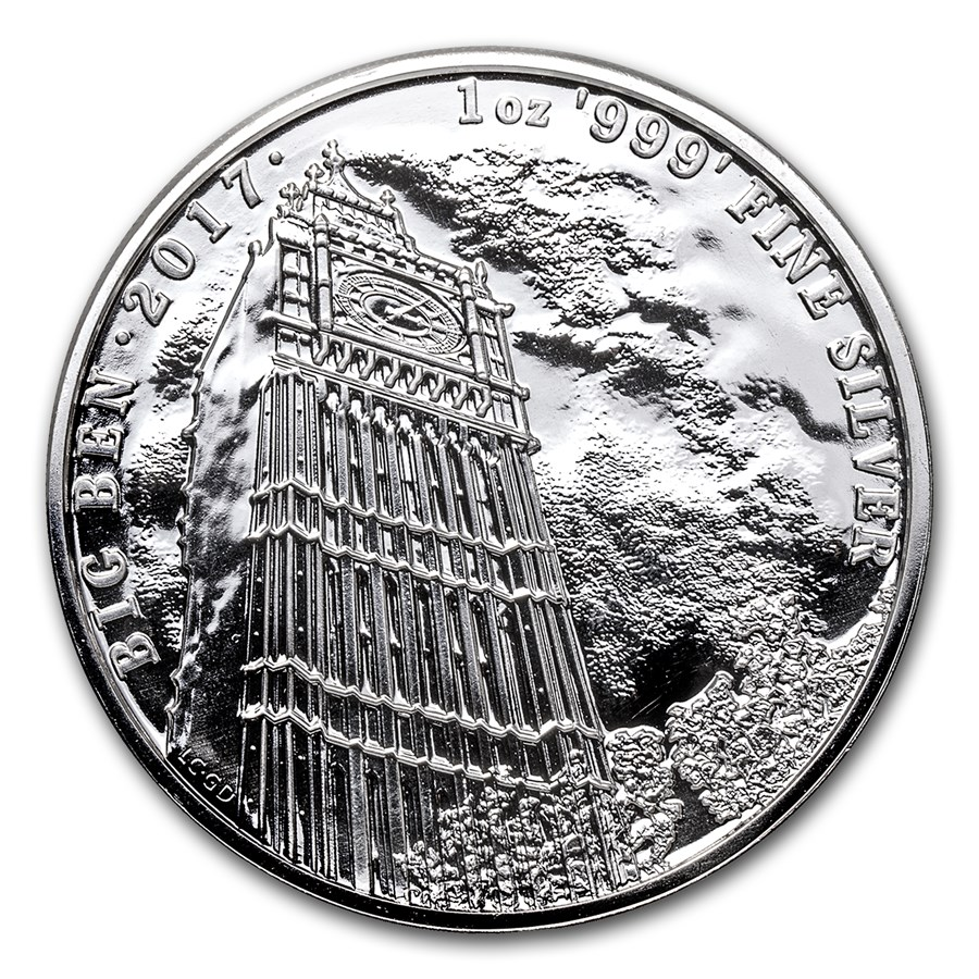 2017 Great Britain 1 oz Silver Landmarks of Britain (Big Ben)