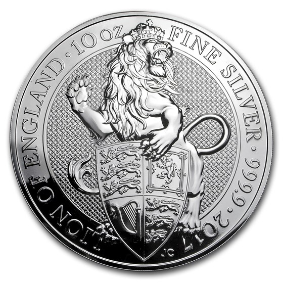 2017 Great Britain 10 oz Silver Queen's Beasts The Lion
