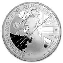 2017 Great Britain 20 oz Silver Britannia (20th Anniv)