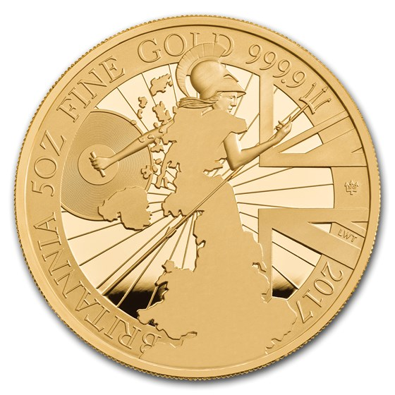 2017 Great Britain 5 oz Proof Gold Britannia