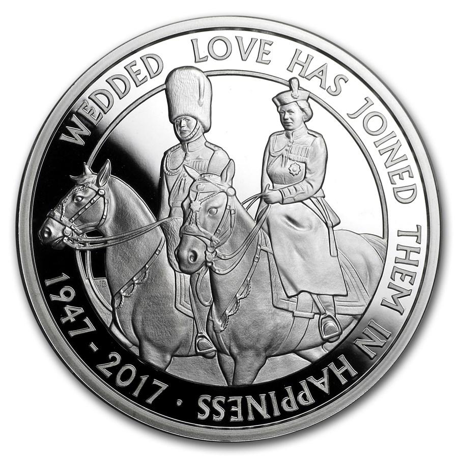 2017 Great Britain £5 Proof Silver Platinum Wedding Anniversary