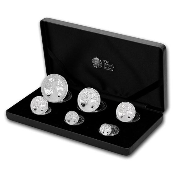 2017 Great Britain 6-Coin Silver Britannia Proof Set