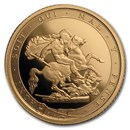 2017 Great Britain Gold 1/2 Sovereign Proof (w/Box & COA)