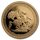 2017 Great Britain Gold 1/4 Sovereign Proof (w/Box & COA)