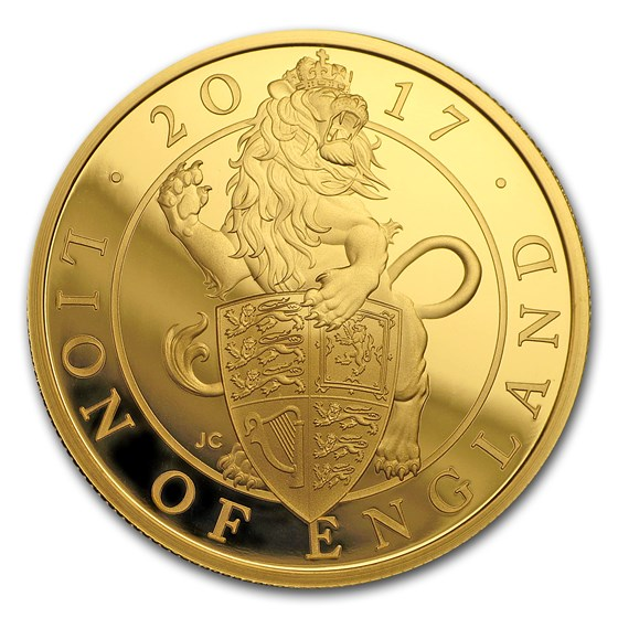 2017 Great Britain Prf 1 oz Gold Queen's Beasts Lion (Box & COA)