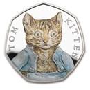 2017 Great Britain Silver 50 pence Beatrix Potter Pf (Tom Kitten)