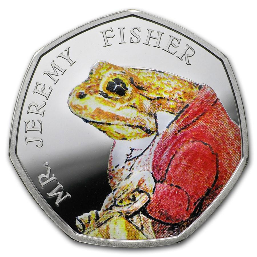 2017 Great Britain Silver 50p Beatrix Potter Prf (Jeremy Fisher)