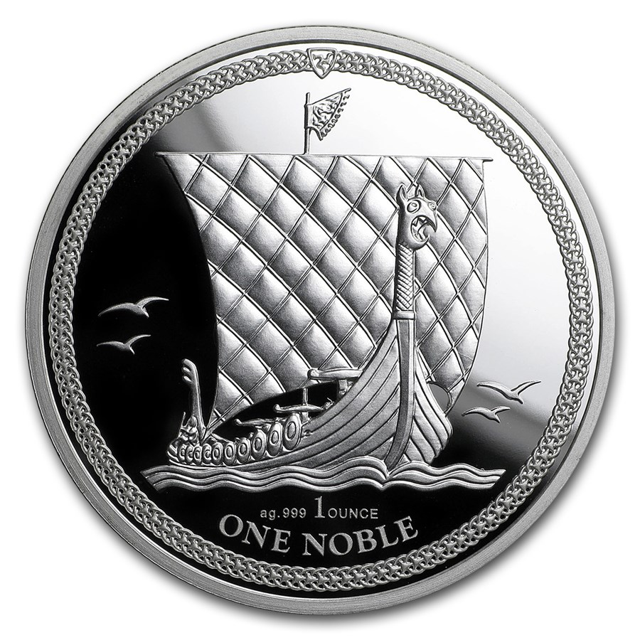 2017 Isle of Man 1 oz Silver Noble Proof