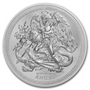 2017 Isle of Man 2 oz Silver Angel Piedfort Proof